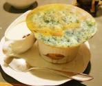 Green Pea And Spinach Souffle