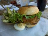 Cool Fried Green Tomato &amp; Chicken Sandwich