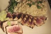 Grilled Ahi Tuna With Wasabi Butter