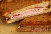 Grilled Ham Cheese And Peach Panini Sandwich