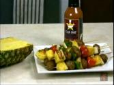 Grilled Meatball Pineapple And Vegetable In Sweet And Sour Sauce