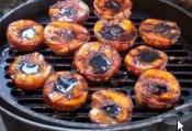 Grilled Peaches Basted With Balsamic Vinegar