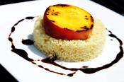 Grilled Peaches And Couscous With Balsamic Reduction