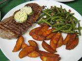 Grilled Porterhouse Steaks With Lemon And Chive Butter