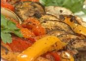 Grilled Prima Vera Veggies With Pesto Garlic