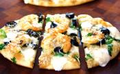 White Pizza With Grilled Shrimp