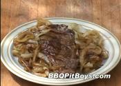 Grilled Steak With Caramelized Onions