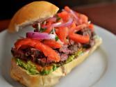 Grilled Skirt Steak Sandwich