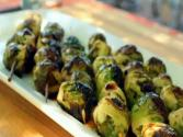 Grilled Tamari Glazed Brussels Sprouts