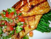 Grilled Tilapia With Peach Barbecue Sauce