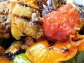 Grilled Vegetables Salad With Asian Dressing