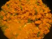 Ground Chicken With Milk And Green Peas