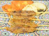 Moroccan Lamb Meat Skewers 