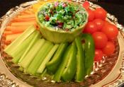Guacamole Dip With Crudites