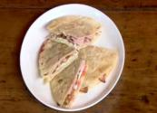 Wheat & Gluten Free: Ham, Egg & Tomato Quesadillas
