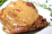 Hamburger Steaks With Mustard Sauce