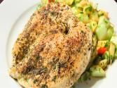 Herb Chicken Breast With Cucumber &amp; Apple Salad