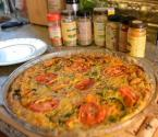 Holiday Season Crustless Vegetable Quiche