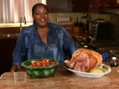 Holiday Series: Spiced Rum & Peach Glazed Ham And Candied Yams (cooking With Carolyn)