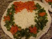 Holiday Wreath Pizza