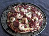 Homemade Aussie Prawn Pizza