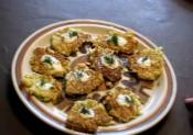 Homemade Cabbage Fritters With Yogurt Dip 