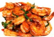 Honeyed Prawns