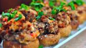 Elba's Hot And Spicy Stuffed Mushrooms