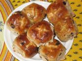 Fruit Filled Hot Cross Buns