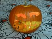 How To Carve Jack O'lantern Eating Pumpkin