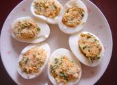 Chive Deviled Eggs