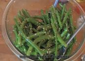 Ginger Garlic Flavored String Beans With Sesame Seeds