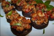 Walnut Stuffed Mushrooms