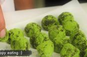Green Tea Dark Chocolate Truffles