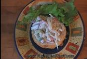 Open Seafood Salad Sandwich