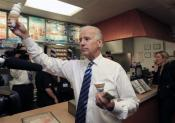 Joe Biden Hands Out Ice Cream Cones On Campaign Trail