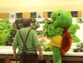 Lettuce-stealing Turtle Thief On Roller Skates