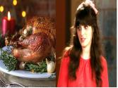 Zooey Deschanel Denounces Thanksgiving Food