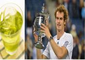 Us Open Winner Andy Murray Celebrates Victory With Lemon Soda