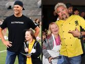 Brady Plays For The Buddies While Fieri Grills