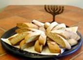 Different Ways Of Presenting Jewish Mandel Bread In A Hanukkah Gift Basket