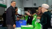 Obamas' Thanksgiving Day Out At Food Bank
