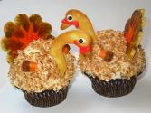 3 Easy Turkey Cupcake Ideas