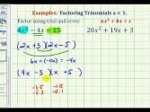 Ex:  Factor Trinomials When A Is Not Equal To 1 - Trial And Error Method