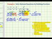 Ex:  Solve A Rational Equation - Alternative Method