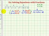 Ex 1:  Solve A Rational Equation (alternative Method)