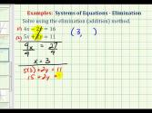 Ex 1:  Solve A System Of Equations Using The Elimination Method