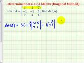 Ex 1: Determinant Of 3x3 Matrix - Cofactor Method