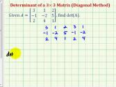 Ex 1: Determinant Of 3x3 Matrix - Diagonal Method
