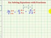 Ex 1: Solve Equations With Fractions (alternative Method)